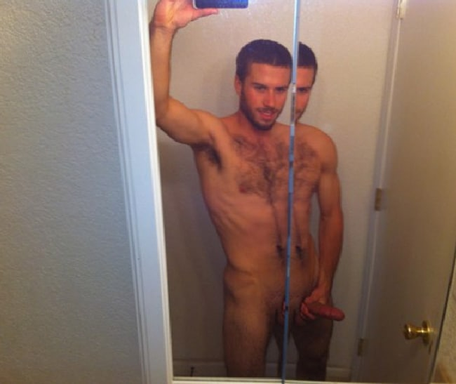 Hairy Nude Mirror Man
