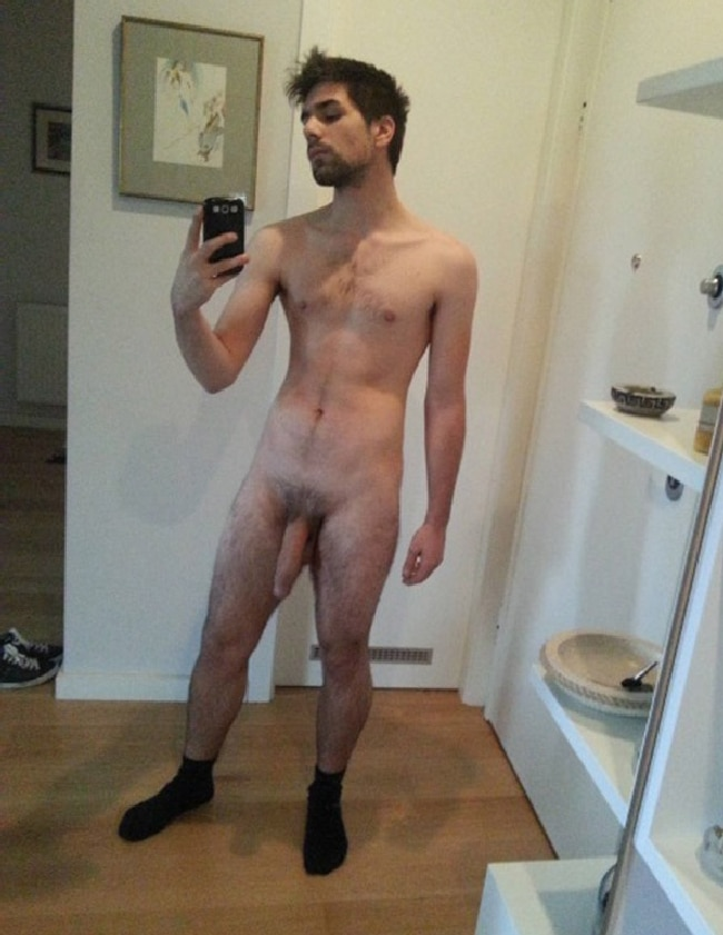 Thin Naked Straight Man Selfie - Nude Boys And Men