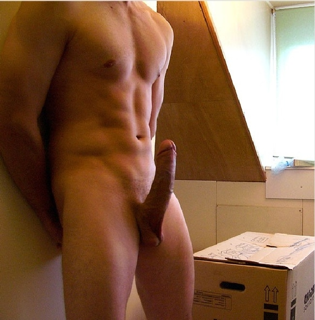 a man fully nude in his penis