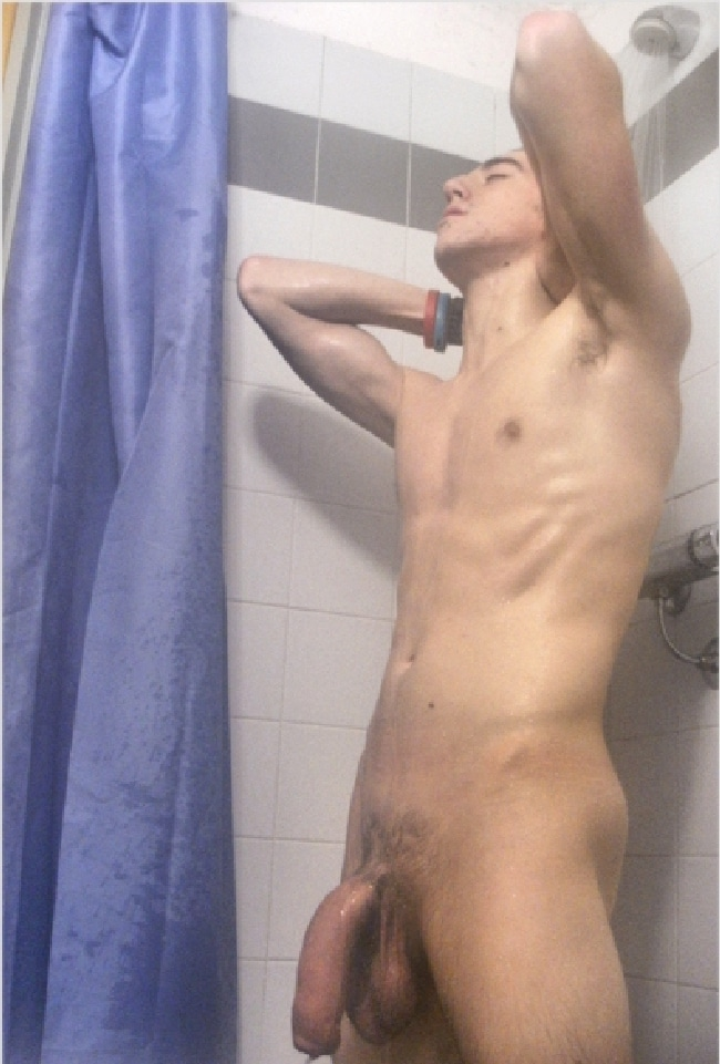 image Sucking straight hung boy with boa and thong